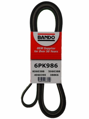 Bando 6PK986 Accessory Drive Belt